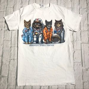 Kennedy Space Center Cat cotton tee shirt